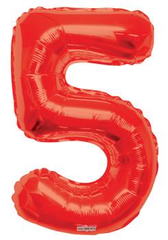 """34""""K Red Number 5 Pkg (1 count)"""