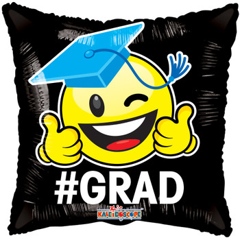 "18""K Grad Happy Face Square Gellibean (10 count)"