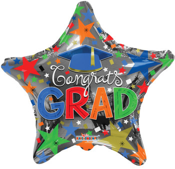 "18""K Grad Star Multi Color(10 count)"