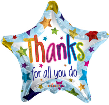 """18""""K Thanks For All You Do Star (10 count)"""
