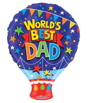 "18""K World's Best Dad Shape (10 count)"