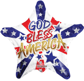 "18""K God Bless America Star (10 count)"