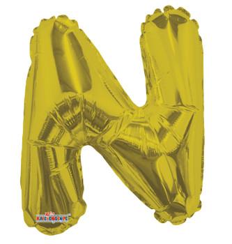 """14""""K Gold Letter N (5 count)"""