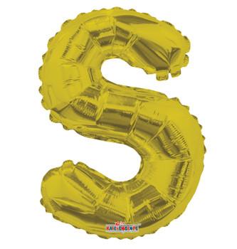 "14""K Gold Letter S (5 count)"