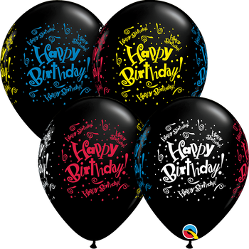 "11""Q  Happy Birthday  Blast Wrap Print (50 count)"