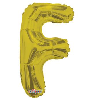 """14""""K Gold Letter F (5 count)"""