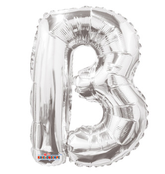 """14""""K Silver Letter B (5 count)"""