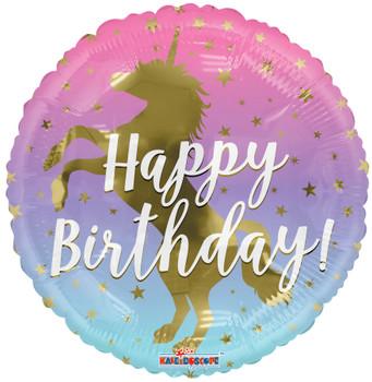"""18""""K Happy Birthday Unicorn Silhouette (10 count)"""