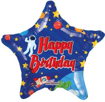 "18""K Happy Birthday Space (10 count)"