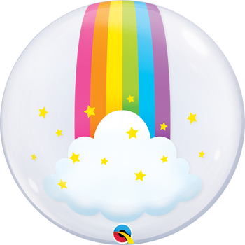 "22""Q Bubble, Rainbow Clouds (1 count)"