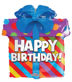 """12""""K Happy Birthday Present (10 count)"""