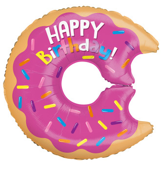 "12""K Happy Birthday Donut  (10 count)"