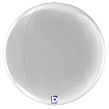 "16""B Globe Dimensionals Silver (5 count)"