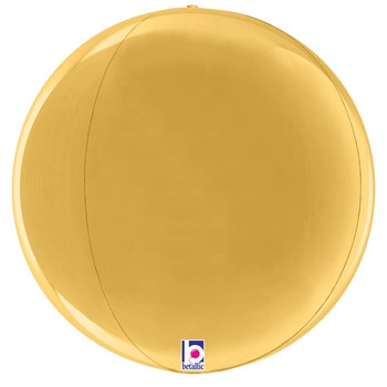 "16""B Globe Dimensionals Gold (5 count)"