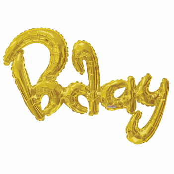 "36""K Script BDay Gold (1 count)"