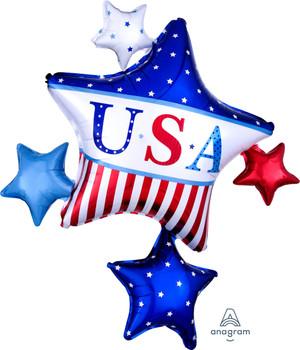 """35""""A U.S.A.  American Classic Star Cluster  (5 count)"""