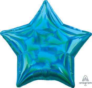 "19""A Star, Iridescent Cyan Blue (10 count)"