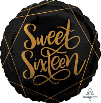 "18""A Sweet 16 Elegant Black (5 count)"