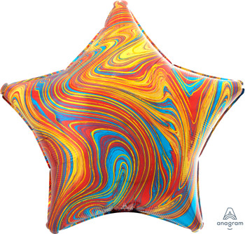 "19""A Marblez Star Colorful (10 count)"