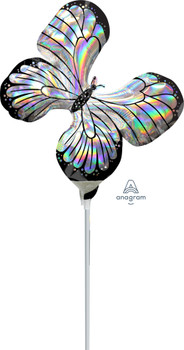 """12""""A Butterfly Iridescent Holograph (10 count)"""