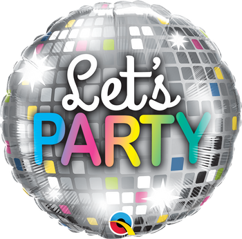"18""Q Let's Party Disco Ball (5 count)"
