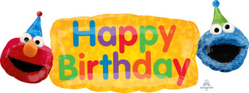 "42""A Happy Birthday Sesame Street Elmo/Cookie Banner (5 count)"