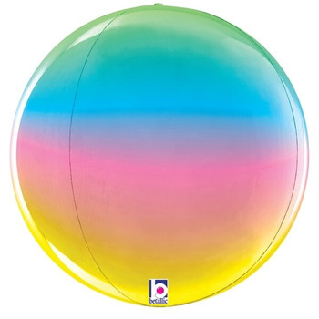"16""B Globe Dimensionals Rainbow (5 count)"
