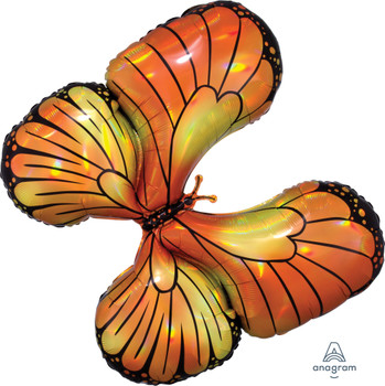 """30""""A Butterfly Iridescent Monarch Holographic (5 count)"""