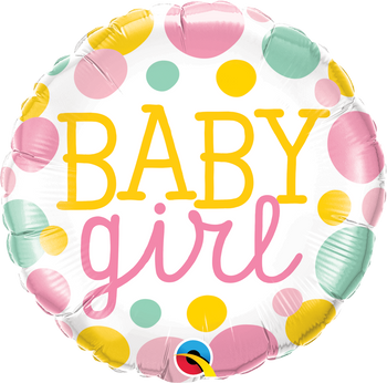 "18""Q Baby Girl  Dots (5 count)"