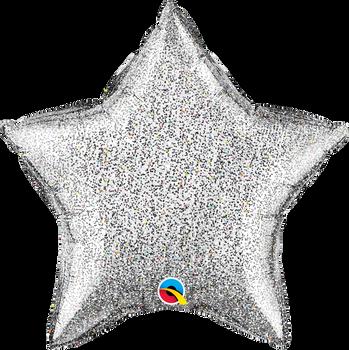 """20""""Q Star Glittergraphic Silver (10 count)"""