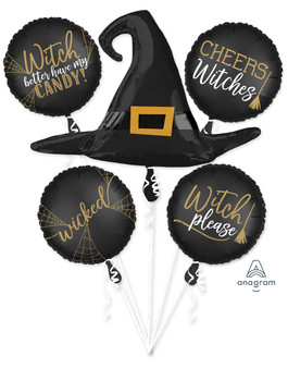 Bouquet Halloween Witch Silhouette (1 count)