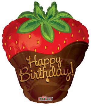 "18""K Happy Birthday Strawberry (10 count)"