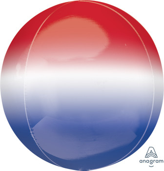 "16""A Orbz, Ombre Red/ White/ Blue (3 count)"