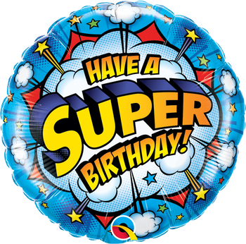 "18""Q Happy Birthday Have A Super (5 count)"