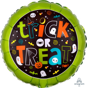 """18""""A Halloween  Trick or Treat (10 count)"""