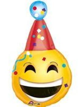 "18""A Emoji, Birthday Hat (5 count)"