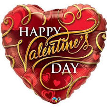 "36""Q Happy Valentine, Heart Flourishes (5 count)"