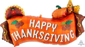 "36""A Happy Thanksgiving Harvest Banner (5 count)"