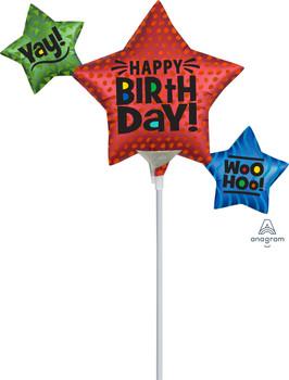 "12""A Happy Birthday Satin Star Trio (10 count)"