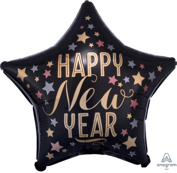 "19""A Happy New Year Satin Star (5 count)"