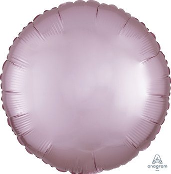 """18""""A Round/Circle Satin Luxe Pastel Pink (10 count)"""