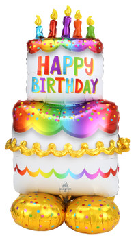 "53""A Airloonz Happy Birthday Cake  (1 count)"