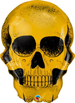 "36""Q  Golden Skull (1 count)"