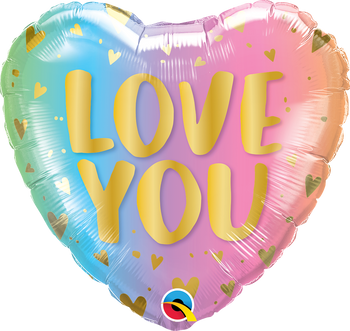 "18Q"" Love You, Pastel Ombre & Hearts (5 count)"