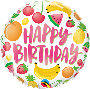 "18""Q Happy Birthday Fruits (5 count)"