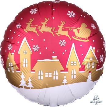 "18""A Christmas,  Satin Santa Village (10 count)"