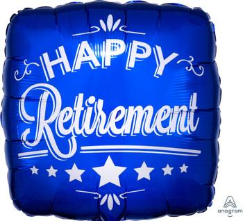 "18""A Happy Retirement, Square Blue (10 count)"