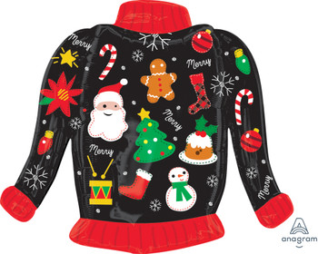 """31""""A Christmas,  Ugly Sweater Foil(5 count)"""