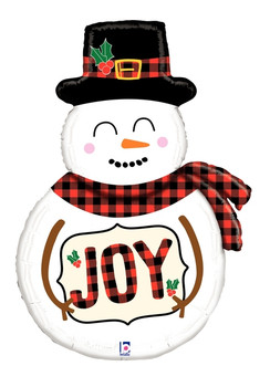 "39""B Snowman Plaid (5 count)"