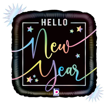 "18""B New Year, Opal Hello Holo (5 count)"
